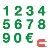 Sortiment Stanzziffern 0-9 - 100 Stück - magnetisch - Grün - Höhe 50-100 mm Produktbild