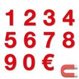Sortiment Stanzziffern 0-9 - 100 Stück - magnetisch - Rot - Höhe 50-100 mm Produktbild