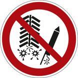 Verbotsschild - Feuerwerkskörper zünden verboten Produktbild