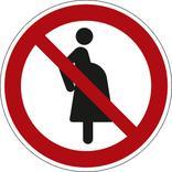 Verbotsschild - Für schwangere Frauen verboten Produktbild