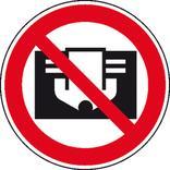 Verbotsschild - Nicht abdecken Produktbild