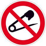 Verbotsschild - Keine Nadeln einstechen Produktbild