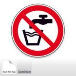 Verbotsschild - Kein Trinkwasser Produktbild
