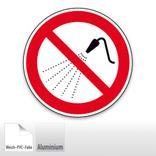 Verbotsschild - Mit Wasser spritzen verboten Produktbild
