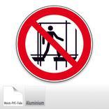 Verbotsschild - Benutzen des unvollständigen Gerüstes verboten Produktbild