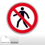 Verbotsschild - Für Fußgänger verboten Produktbild