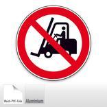 Verbotsschild - Für Flurförderzeuge verboten Produktbild