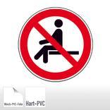 Verbotsschild - Sitzen verboten Produktbild