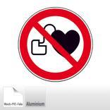 Verbotsschild - Kein Zutritt für Personen mit Herzschrittmachern oder Produktbild