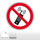 Verbotsschild - Eingeschaltete Mobiltelefone verboten Produktbild