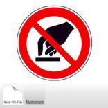 Verbotsschild - Berühren verboten Produktbild