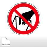Verbotsschild - In die Schüttung greifen verboten Produktbild