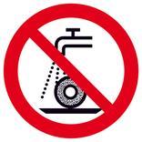 Verbotsschild - Nicht zulässig für Nassschleifen Produktbild