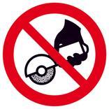 Verbotsschild - Nicht zulässig für Freihand und handgeführtes Schleifen Produktbild
