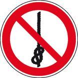 Verbotsschild - Knoten von Seilen verboten Produktbild