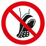 Verbotsschild - Metallbeschlagenes Schuhwerk verboten Produktbild