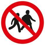 Verbotsschild - Kinder verboten Produktbild