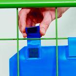 Gitterboxtaschen mit Magnetverschluss - DIN A6 quer - 4 Farben Produktbild