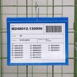 Kennzeichnungstaschen mit Aufhänge-Lochung - DIN A4 quer - Schmalseite offen Produktbild