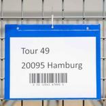Kennzeichnungstaschen mit Aufhängelochung und zusätzlicher Klappe - DIN A5 quer - 4 Farben Produktbild