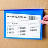 Kennzeichnungstaschen für gestapelte Kartons - in 2 Größen Produktbild