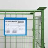 Magnettaschen - 1 Magnetstreifen - Regenschutzklappe - DIN A6 quer - 4 Farben Produktbild