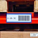 Magnetische Etikettentaschen - 2 Magnetstreifen - 110 x 50 mm - 4 Farben Produktbild
