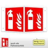 Feuerlöscher Winkel- und Fahnenschild, langnachleuchtend Produktbild