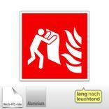 Brandschutzschild - langnachleuchtend Feuerlöschdecke Produktbild