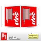 Löschschlauch Winkel- und Fahnenschild, langnachleuchtend Produktbild