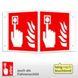 Brandmelder Winkel- und Fahnenschild, langnachleuchtend Produktbild