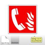 Brandschutzschild - langnachleuchtend Brandmeldetelefon Produktbild