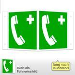 Erste-Hilfe-Schild - Winkel - langnachleuchtend Notruftelefon Produktbild