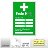 Aushang - Erste Hilfe - Ersthelfer-Verzeichnis Produktbild