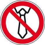 Verbotsschild - Bedienung mit Krawatte verboten Produktbild