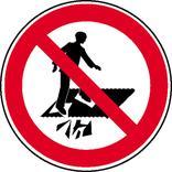 Verbotsschild - Betreten verboten, Durchsturzgefahr Produktbild