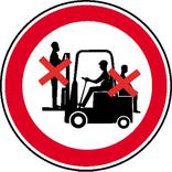 Verbotsschild - Mitfahren auf Gabelstapler verboten Produktbild