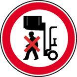 Verbotsschild - Nicht unter angehobene Last treten Produktbild