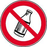 Verbotsschild - Flaschen hinauswerfen verboten Produktbild