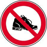 Verbotsschild - Schuhverbot Produktbild