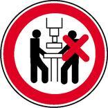 Verbotsschild - Maschine darf nur von einer Person bedient werden Produktbild