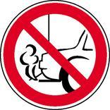 Verbotsschild - Verbot, mit dem Auspuff zur Wand zu parken Produktbild
