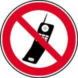Verbotsschild - Handy benutzen verboten Produktbild