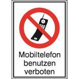 Verbots-Kombischild Mobiltelefon verboten Produktbild