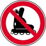 Verbotsschild - Inline-Skates verboten Produktbild