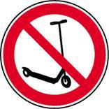 Verbotsschild - Kickboard fahren verboten Produktbild