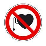 Verbotsschild - Verbot für Personen mit Herzschrittmacher Produktbild