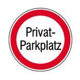 Verbotsschild - Privat-Parkplatz Produktbild