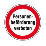 Hinweisschild - Personenbeförderung verboten Produktbild