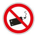 Verbotsschild - E-Zigarette verboten Produktbild